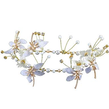 סגסוגת רצועות עם עלי כותרת / תחרה 1pc חתונה / אירוע מיוחד כיסוי ראש