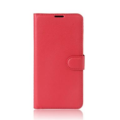 מגן עבור Xiaomi מחזיק כרטיסים ארנק עם מעמד נפתח-נסגר כיסוי מלא צבע אחיד קשיח עור PU ל Xiaomi A1