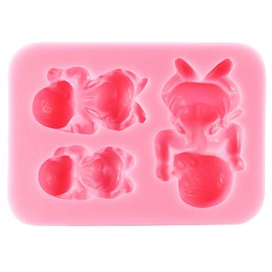 Bakvormen gereedschappen Siliconen Milieuvriendelijk / Thanksgiving / DHZ Cake / Koekje / Chocolade baby van de slaap bakvorm 1pc