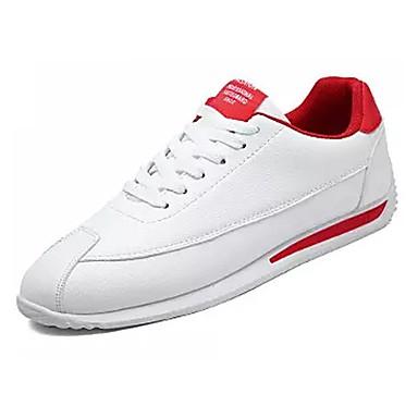 PU אביב / סתיו נוחות נעלי אתלטיקה הליכה אדום / שחור לבן / לבן וירוק