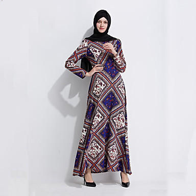 1468483824c89 Déguisement Halloween Femme Mode Robe Arabe Abaya Robe caftan Bleu Costumes  Carnaval