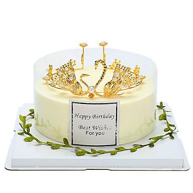 קישוטים לעוגה נושא אגדות / רומנטיקה / יומהולדת מזל טוב סגסוגת חתונה / יום הולדת עם ריינסטון / דמוי פנינה 1 pcs תיק מתנה