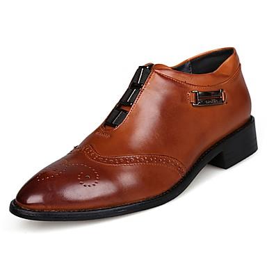 נעליים PU אביב סתיו נוחות נעלי אוקספורד ל קזו'אל שחור חום