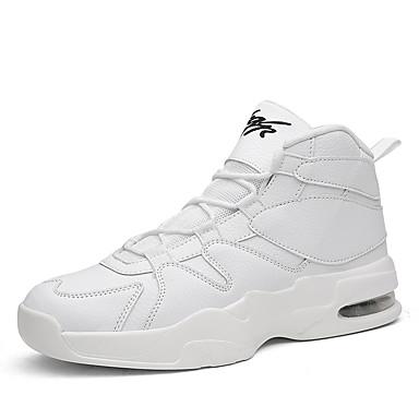 בגדי ריקוד גברים טול אביב / סתיו נוחות נעלי אתלטיקה כדורסל לבן / שחור / שחור לבן