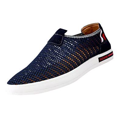 נעליים טול אביב קיץ נוחות נעליים ללא שרוכים ל קזו'אל כחול כהה אפור חאקי