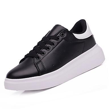 בגדי ריקוד גברים PU סתיו / חורף נוחות נעלי ספורט שחור / שחור לבן / לבן וירוק