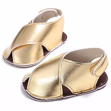 נעליים PU אביב / סתיו נוחות / צעדים ראשונים שטוחות ל תינוק זהב / כסף