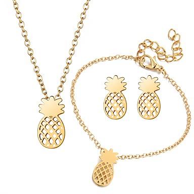 בגדי ריקוד נשים סט תכשיטים - אופנתי לִכלוֹל זהב / כסף עבור יומי / עגילים