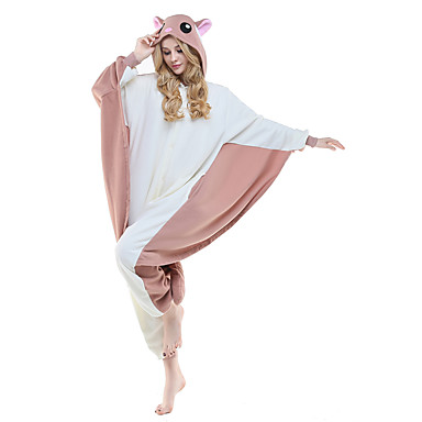 Kigurumi Pajamas Flying Squirrel / Squirrel / Mouse Onesie Pajamas Costume Polar Fleece / Synthetic Fiber Brown Cosplay For Adults'