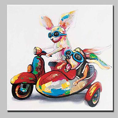 Hang-dipinto Ad Olio Dipinta A Mano - Animali Animali Semplice Modern Include Interno Della Montatura - Tela Allungata #06473961