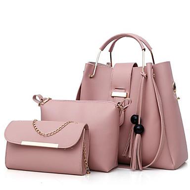 5277b971c6d0 Women s Bags Polyester   PU(Polyurethane) Bag Set 3 Pcs Purse Set Zipper    Tassel Beige   Gray   Camel