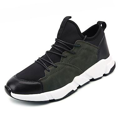 בגדי ריקוד גברים PU אביב / סתיו נוחות נעלי אתלטיקה שחור / חום / ירוק