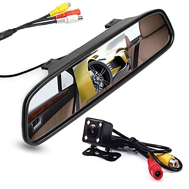 voordelige Automatisch Electronica-ziqiao 4.3 inch digitale tft lcd-spiegelmonitor en 8led ccd hd auto achteruitrijcamera