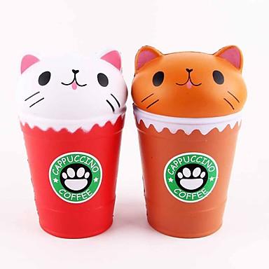 LT.Squishies צעצוע מעיכה / מקל מתחים מזון ומשקאות / חתול / חיה הקלה על ADD, ADHD, חרדה, אוטיזם / Office צעצועים במשרד / הפגת מתחים וחרדה