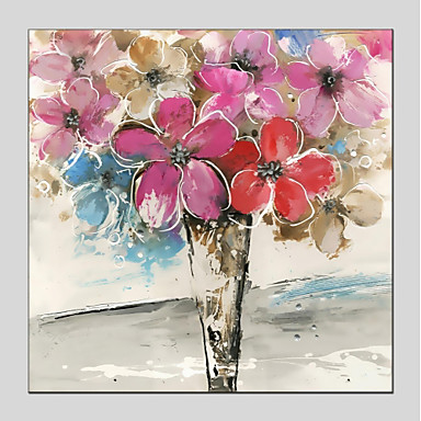 billige Trykk-Trykk Stretched Canvas - Blomstret / Botanisk Moderne Kunsttrykk