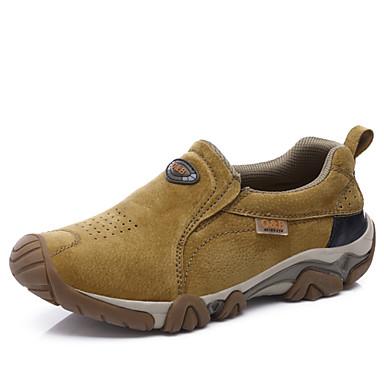 בגדי ריקוד גברים סוויד אביב / סתיו נוחות נעלי אתלטיקה טיפוס אפור / צהוב / חאקי