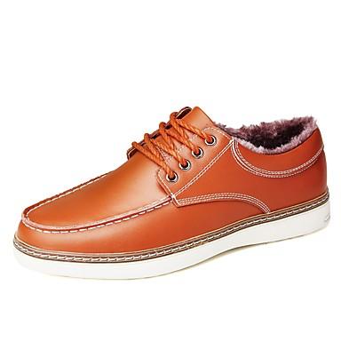 נעליים אוקספורד חורף סתיו פרווה בטנה נוחות נעלי ספורט ל קזו'אל שחור צהוב חום כחול