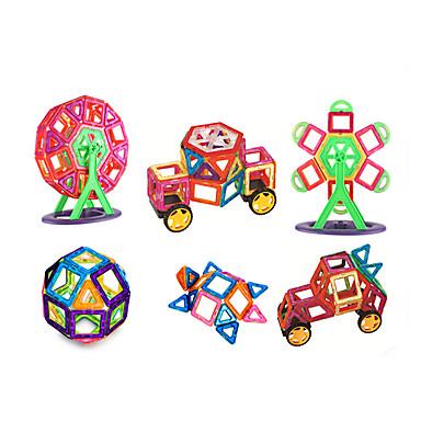 בלוק מגנטי אבני בניין 151 pcs נושא קלאסי ארכיטקטורה רכבים טרנספורמבל אינטראקציה בין הורים לילד קלסי ונצחי שיק ומודרני משאית מטוס בנים בנות צעצועים מתנות