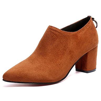 les chaussures de femme kaka (polyuréthane) automne / hiver confort mode / bottes mode confort bottes mi - mollet bloc au pied orteil noir et brun clair bottes c6a5c4