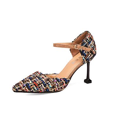 נעליים PU אביב נוחות עקבים עקב סטילטו בוהן מחודדת שחור / בז' / אפור / שמלה