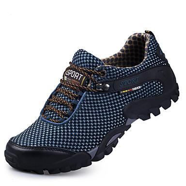 בגדי ריקוד גברים רשת אביב / סתיו נוחות נעלי אתלטיקה טיפוס כחול כהה / חום בהיר / בורדו