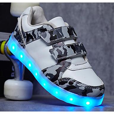 בנים / בנות נעליים PU אביב / סתיו נוחות נעלי ספורט ל לבן / שחור
