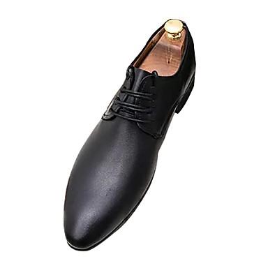 נעליים מיקרופייבר PU סינתטי אביב סתיו נוחות נעלי אוקספורד ל קזו'אל שחור