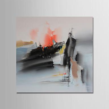ציור שמן צבוע-Hang מצויר ביד - מופשט עכשווי / מודרני בַּד / בד מתוח