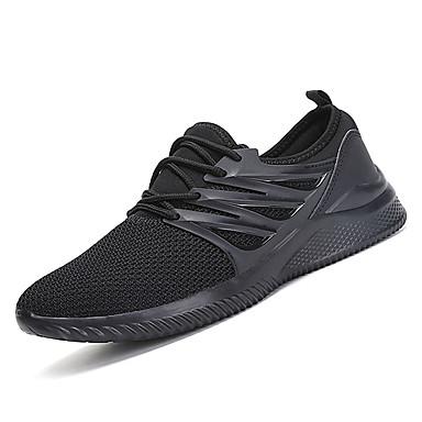 בגדי ריקוד גברים PU סתיו / חורף נוחות נעלי אתלטיקה שטח לבן / שחור