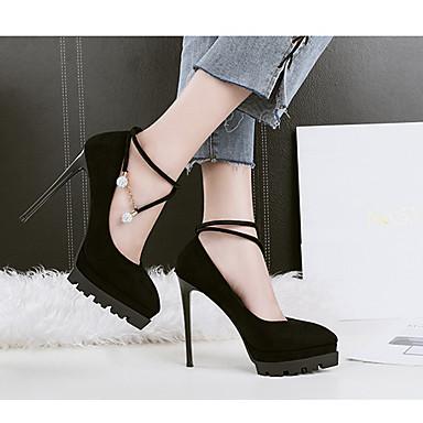 Talons Escarpin Chaussures Gris Printemps Strass Rouge Talon Tissu Chaussures pointu Basique Kaki 06506125 à Bout Habillé Automne Aiguille qtF50