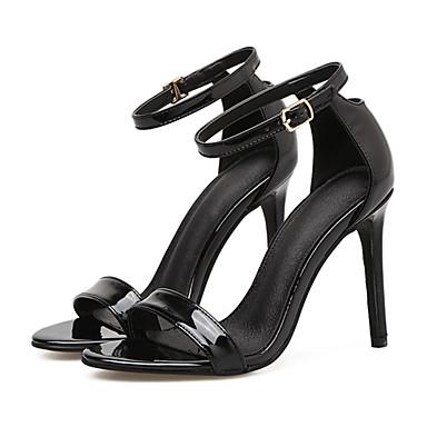 Aiguille Confort Eté Chaussures Bottes Printemps la 06529513 Noir Sandales à Mode Nouveauté Talon Femme Similicuir Amande Mariage fAItqxwA7