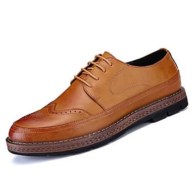 נעליים גומי אביב סתיו נוחות נעלי אוקספורד ל בָּחוּץ שחור צהוב חום