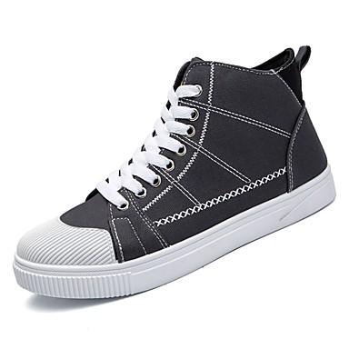 נעליים בד קנבס אביב סתיו נוחות נעלי ספורט ל קזו'אל שחור אפור ירוק