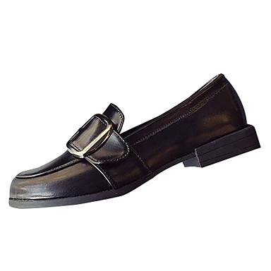 בגדי ריקוד נשים נעליים PU אביב / סתיו נוחות שטוחות שטוח שחור / חום