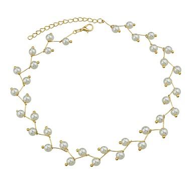 בגדי ריקוד נשים שרשראות מחרוזת - פשוט, בסיסי זהב שרשראות תכשיטים עבור יומי, פגישה (דייט)