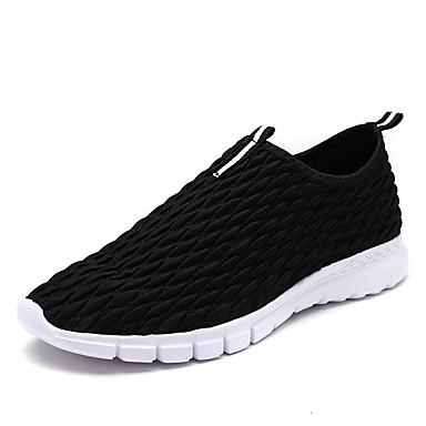 בגדי ריקוד גברים PU אביב / סתיו נוחות נעליים ללא שרוכים לבן / שחור