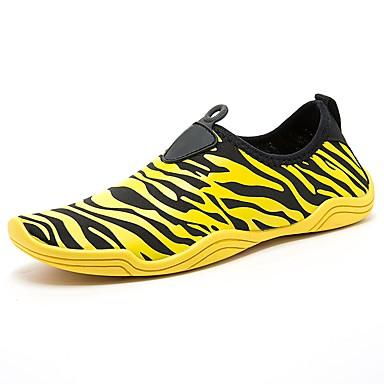 בגדי ריקוד גברים PU אביב / סתיו נוחות נעלי אתלטיקה ריצה צהוב / כחול / ורוד