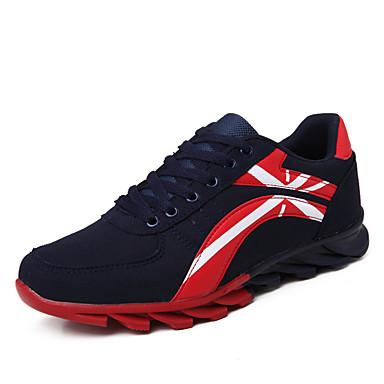 בגדי ריקוד גברים סוויד אביב / סתיו נוחות נעלי אתלטיקה ריצה כחול כהה / אפור / שחור לבן