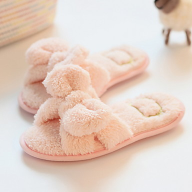 cheap Slippers-Women's Slippers Slide Slippers Flip-Flop Polyester Shoes