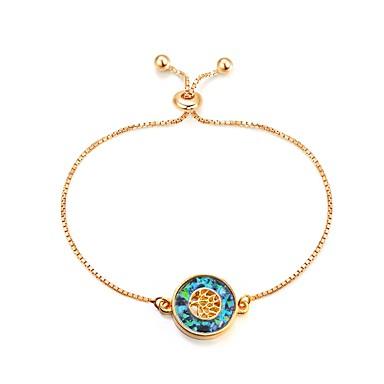 בגדי ריקוד נשים שרשרת וצמידים צמיד - עץ החיים וינטאג', אופנתי צמידים זהב עבור יומי חגים