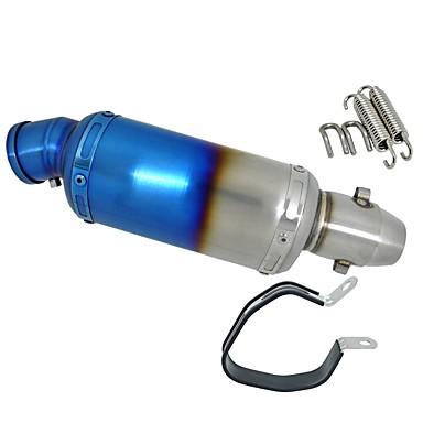 חצי כחול שונה נירוסטה אופנוע צעיף צינור פליטה db רוצח משתיק
