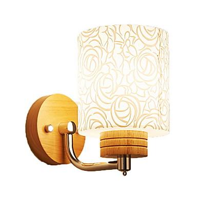 מגן עין מנורות קיר חדר שינה עץ / במבוק אור קיר 220V 9 W / E27