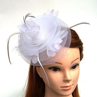 עור / רשת מפגשים / פרחים / כובעים עם נוצות \ פרווה / פרחוני 1pc חתונה / אירוע מיוחד כיסוי ראש