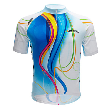 Jerseu Cycling Bărbați Manșon scurt Bicicletă Topuri Uscare rapidă Respirabil Poliester Primăvară Vară Ciclism/Bicicletă