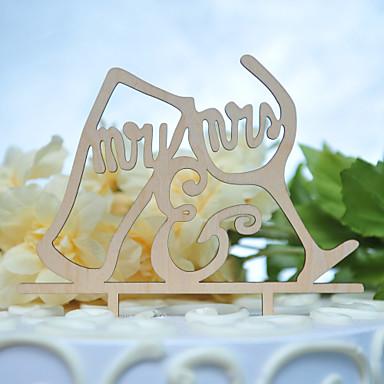 Kakepynt Sommerfugl Tema Monogram Harpiks Bryllup med 1pcs OPP
