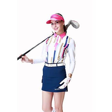 בגדי ריקוד נשים גולף רוכסן עליון ייבוש מהיר עמיד לביש נשימה גולף פעילות חוץ