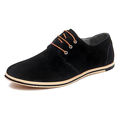 בגדי ריקוד גברים נעלי נהיגה עור אביב / קיץ יום יומי / נוחות נעלי אוקספורד קולור בלוק אפור / אדום / חאקי