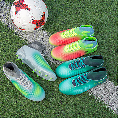 06532121 Polyuréthane Chaussures Football Confort Femme Vert Automne Bleu respirante Bout d'Athlétisme Chaussures Grille Talon Gris rond Plat 8xxTa