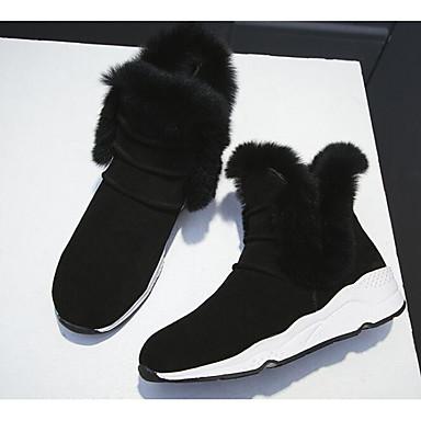 Mujer Zapatos Cuero Nobuck / Cuero Otoño / Invierno Confort / Botas de nieve Botas Tacón Cuña Botines / Hasta el Tobillo Negro / Gris 100% Garanti En Ligne nx8NPo