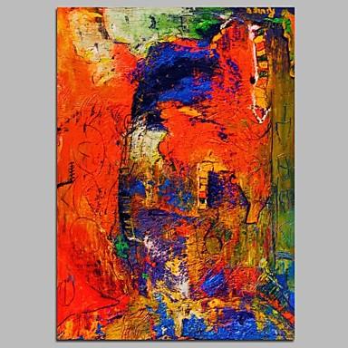 ציור שמן צבוע-Hang מצויר ביד - מופשט עכשווי בַּד